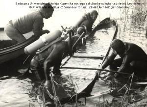 Ostrów Lednicki 1982 - Dłubanka