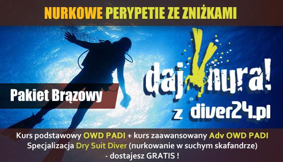 Pakiet Brązowy - Kurs OWD, ADV OWD + Dry Suit Diver