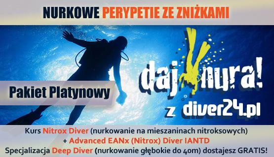 Pakiet Platynowy - Kurs Nitrox Diver, Advanced EANx (Nitrox) Diver IANTD + Deep Diver