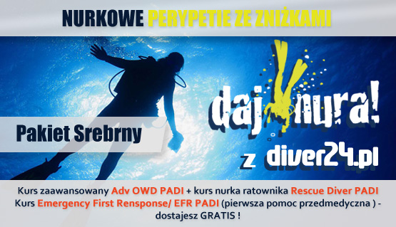 Pakiet Srebrny - Kurs Adv OWD, Rescue Diver + Emergency First Response