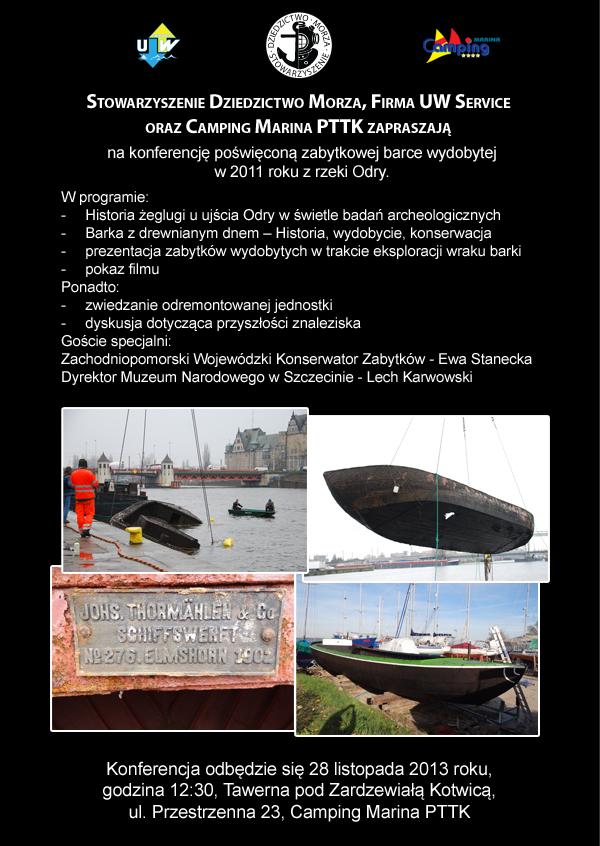 Zaproszenie Barka z drewnianym dnem - Diver24